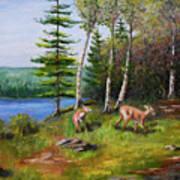 Deer Meadow Art Print