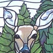 Deer Scene Art Print