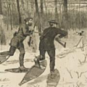 Deer-stalking In The Adirondacks In Winter Art Print