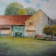 Deere On The Farm Art Print