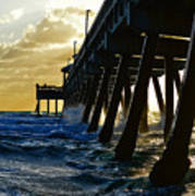 Deerfield Beach Pier At Sunrise Art Print