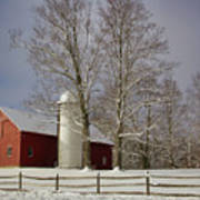 Deerfield Red Barn Art Print