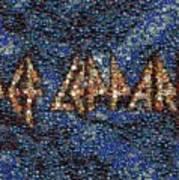 Def Leppard Albums Mosaic Art Print by Paul Van Scott