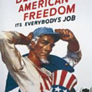 Defend American Freedom Art Print