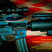 Defender Of Freedom - 2nd Ammendment Art Print