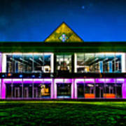 Defiance College Library Night View Art Print