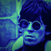 Deja Blue Rolling Stones Bill Wyman Art Print