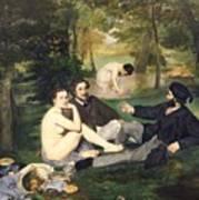 Dejeuner Sur L Herbe Art Print by Edouard Manet