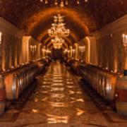 Del Dotto Wine Cellar Art Print by Scott Campbell