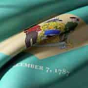 Delaware State Flag Art Print