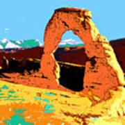 Delicate Arch Utah - Pop Art Art Print