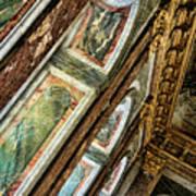 Delicate Details Versailles Chateau Up Close Interior France  Art Print