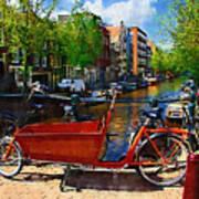 Delivery Bike Art Print