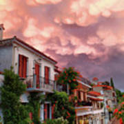Delphi Greece Sunset Art Print
