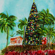 Delray Beach Christmas Tree Art Print
