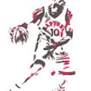 Demar Derozan Toronto Raptors Pixel Art 7 Art Print