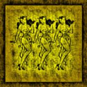 Demonios De Oro Art Print