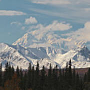 Denali In Broad Pass Art Print by Donna Quante