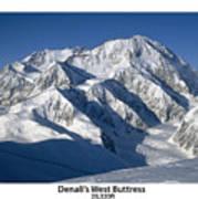 Denali West Buttress Art Print