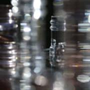 Denmark Abstract Of Glass Chess Set Art Print