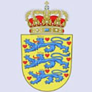 Denmark Coat Of Arms Art Print