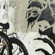 Denmark, Copenhagen Graffiti On Wall Art Print