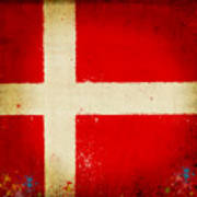 Denmark Flag Art Print by Setsiri Silapasuwanchai