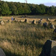 Denmark, Lindholm Hoeje Viking Burial Art Print