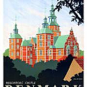 Denmark, Rosenborg Castle, Vintage Travel Poster Art Print