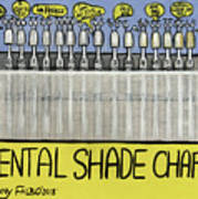image regarding Tooth Shade Chart Printable referred to as Dental Coloration Chart Artwork Print