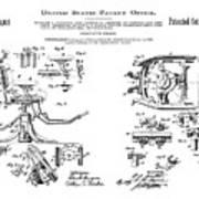 Dentists Chair Patent 1892 Art Print