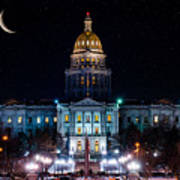 Denver Capital Nights Art Print