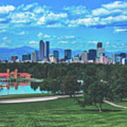 Denver City Park Art Print