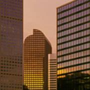 Denver Skyline Of Glass Art Print