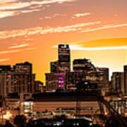 Denver Sunrise Iv Art Print