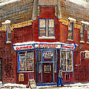 Depanneur De Montreal Pointe St Charles Best Original Montreal Paintings On Sale Peintures A Vendre  Art Print