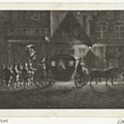 Departure Of Alva From Amsterdam, 1573, Barent De Bakker Attributed To, After Hermanus Petrus Scho Art Print