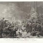 Departure Of Prince William V, 1795, Joannes Bemme, After Dirk Langendijk, After Christoffel Meijer, Art Print