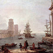 Departure Of Ulysses From The Land Of The Feaci  Art Print