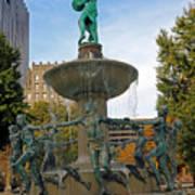 Depew Memorial Fountain Art Print