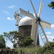 Derbyshire Windmill Art Print