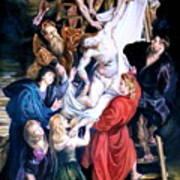 Descent From The Cross After Peter Paul Rubens Art Print
