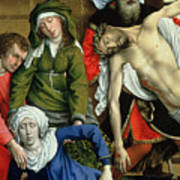 Descent From The Cross Print by Rogier van der Weyden