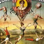 Descente D'absalon Par Miss Stena - Aerialists, Circus - Retro Travel Poster - Vintage Poster Art Print