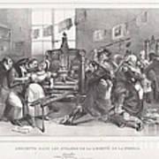 Descente Dans Les Ateliers De La Libert? De La Presse Art Print