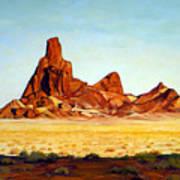 Desert Buttes Art Print by Evelyne Boynton Grierson