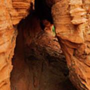 Desert Cavern Art Print