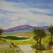 Desert Green Art Print