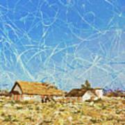 Desert Houses Art Print