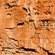 Desert Rock Art Print